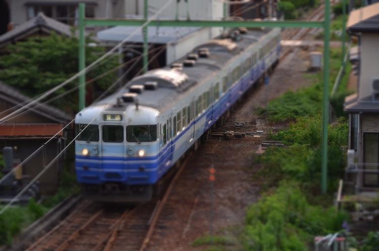夕方の電車-1