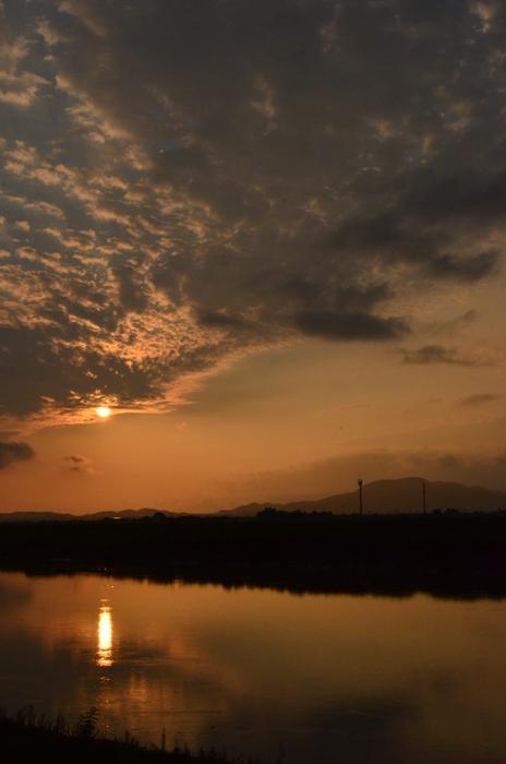久しぶりの夕陽-1