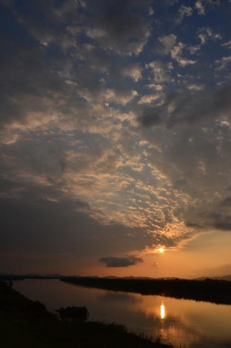 久しぶりの夕陽-2