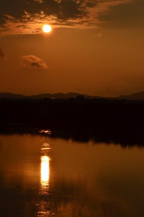 久しぶりの夕陽-3