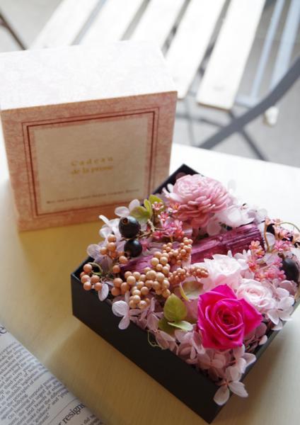 ピンクBOX+ピンク花p