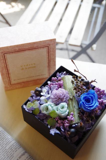 ピンクBOX+ブルー花p