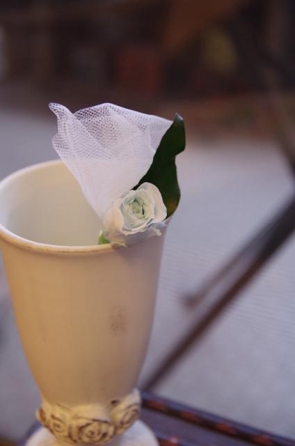 2013.6ジューンブライドに♪ミニブーケ(おしゃれな花器とプリザのブートニア付き)p7