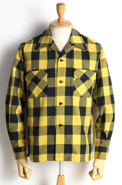Lot238 BUFFALO CHECK SHIRT YEL (5)