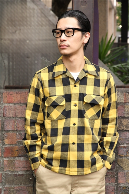Lot238 BUFFALO CHECK SHIRT YEL (3)