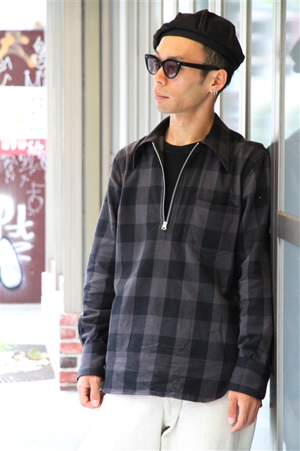 Lot239 BUFFALO CHECK PULLOVER BK (3)