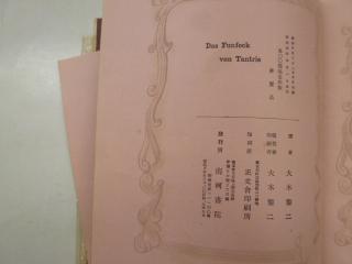 恋の百面相 タントリス 大木黎二 南柯書院 昭和4年