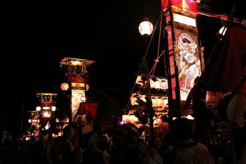 蛸島キリコ祭り1