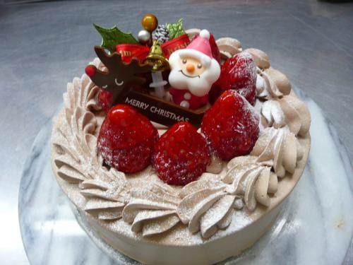 苺のクリスマスケーキ(チョコクリーム)・15cm