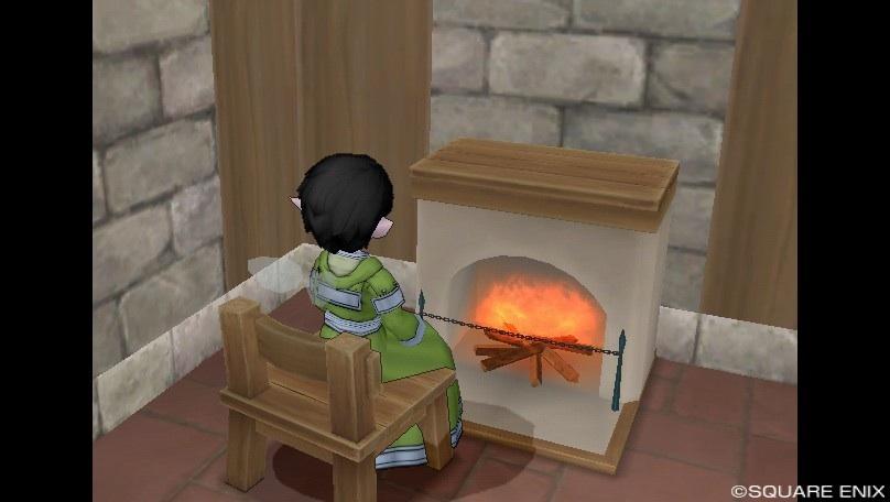 暖を取る。