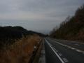 140104県道80号鉢伏峠からの下り。奈良市街を望む
