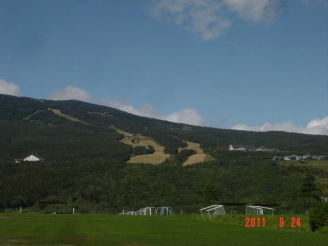 サッカーグランドよりのパルコール嬬恋スキー場