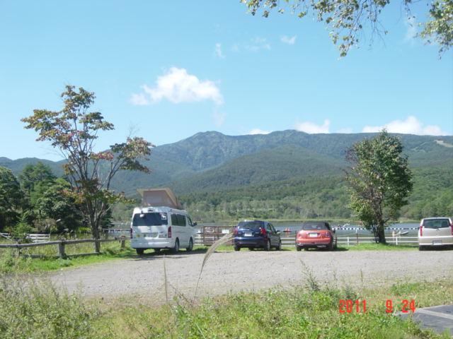 バラギ湖より望む、四阿山
