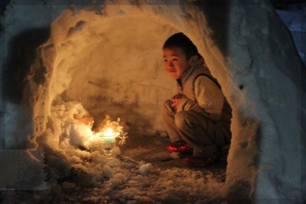 大雪 かまくら 20140209