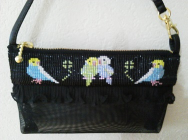 鳥のミニバッグ