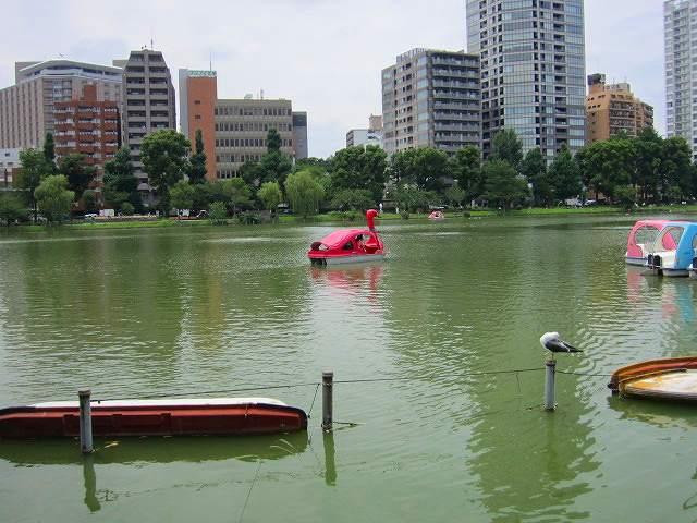 ボートに乗れる池