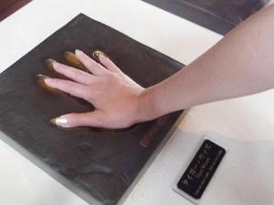 タイガーウッズの手形