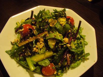 コウサイタイと豆腐のサラダ