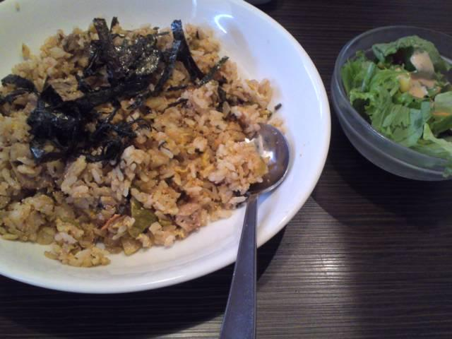 高菜と明太子ピリ辛ピラフ