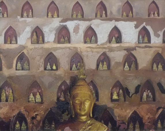 6 シーサケート寺の仏たち 12.4.17グループ展2日目 (12)