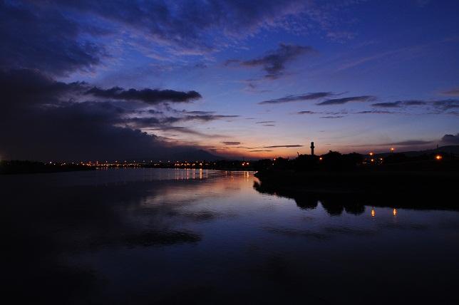 百齢橋の夕暮れ(3)