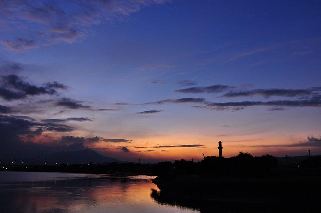 百齢橋の夕暮れ(2)