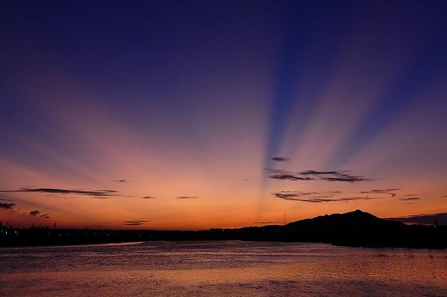 百齡橋公園の夕日(2)
