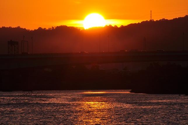 百齡橋公園の夕日(3)