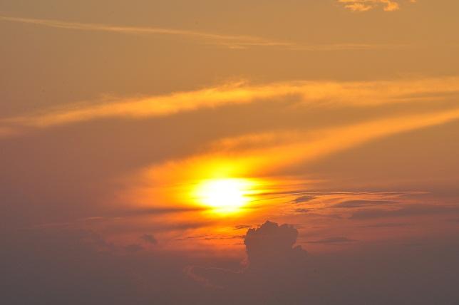 碧山巖の日の出(2)