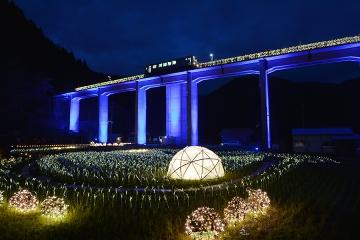 宇都井駅イルミ2014(4)