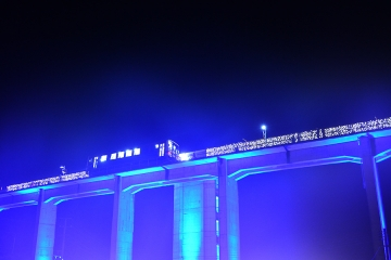 宇都井駅イルミ2014(9)