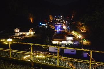 宇都井駅イルミ2014(11)