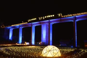 宇都井駅イルミ2014(12)