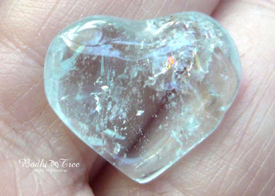 天然ブルートパーズ ハートシェイプ-a 天然石 パワーストーン 11月誕生石2