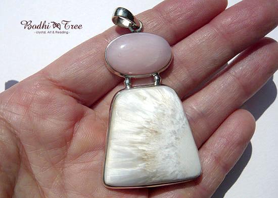 セラフィナイトオパール&ピンクオパール・コンビ ペンダント 天然石 パワーストーン silver 925