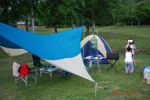 キャンプ設営②