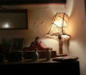 木屋旅館和紙ランプ