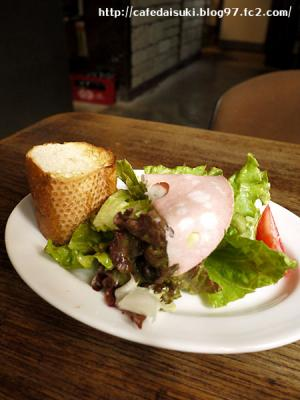 cafe Bazzar◇ランチセットのサラダ&パン
