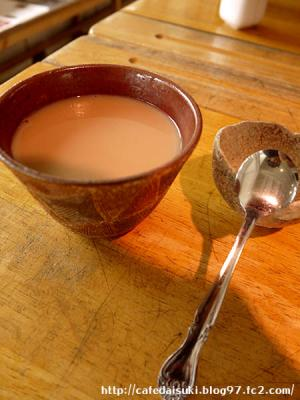 ヒジノワ(mukubar中山タコス店)◇ミルクティー