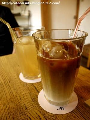 naYa◇アイスカフェオレ&自家製シロップのジンジャーエール