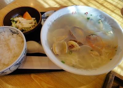 松月5 あさりラーメン定食