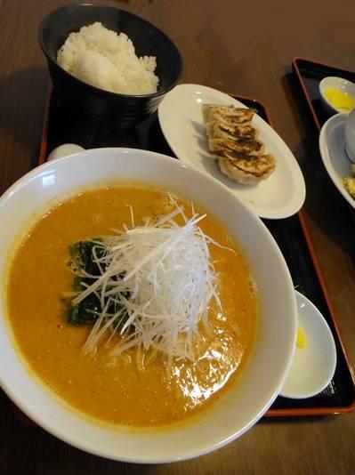 嵐丸 坦々麺セット
