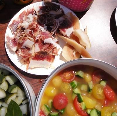 BBQ 生ハム&トマトサラダ