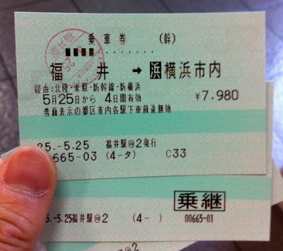 福井→東京