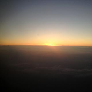 君府→アテネ機内から見た空