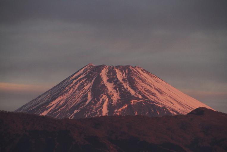 4日 7ー02 今朝の富士山-3
