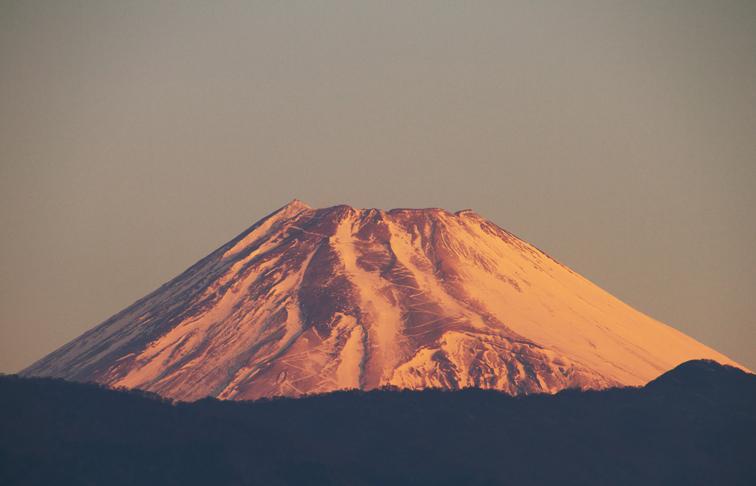 13日 7ー00 今朝の富士山
