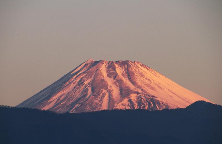 21日 6ー54 今朝の富士山-2