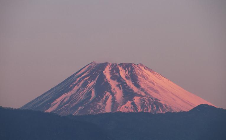 23日 6ー50 今朝の富士山-1