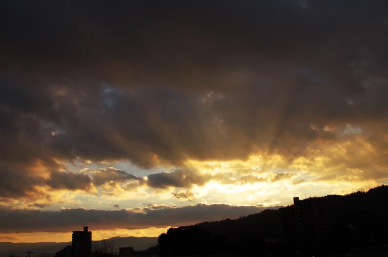24日 7ー17 東の空